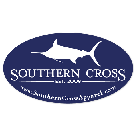 Marlin Oval Logo Decal, Accessories - Southern Cross Apparel