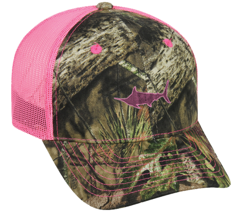 Marlin Ladies Neon Mesh Back Camo Hat