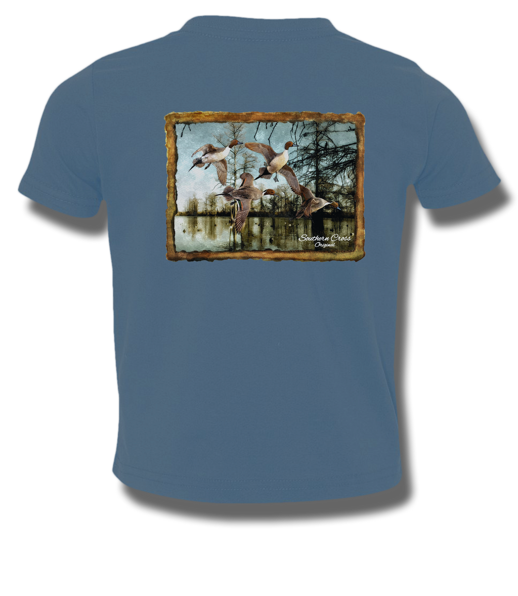 Pintail Bayou Youth Short Sleeve, T-Shirts - Southern Cross Apparel