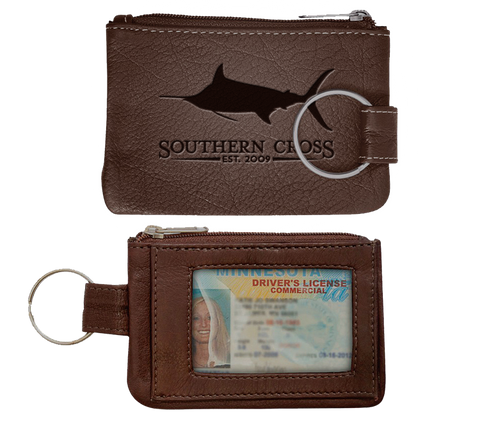 Plantation Leather ID Pouch/Keychain, Accessories - Southern Cross Apparel