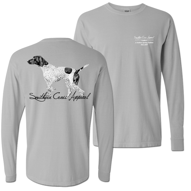 Pointer Long Sleeve Chrome Small, T-Shirt - Southern Cross Apparel