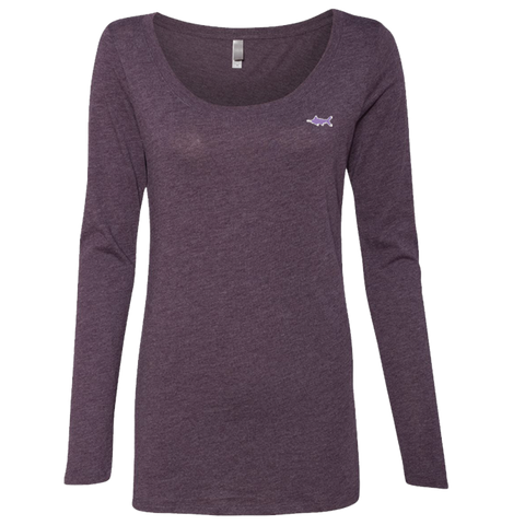 Port of Call Triblend Long Sleeve Scoop, Tops - Southern Cross Apparel
