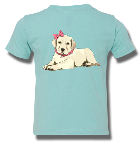 Pretty Puppy In Pink Youth Short Sleeve, T-Shirt - Southern Cross Apparel