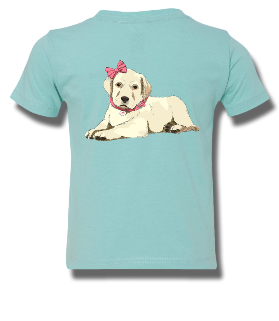 Pretty Puppy In Pink Toddler Short Sleeve, T-Shirts - Southern Cross Apparel