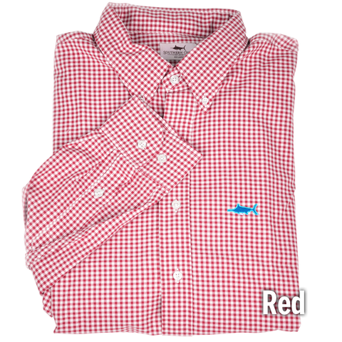 Grass Roots Gingham Sport Shirt, Sport Shirt - Southern Cross Apparel