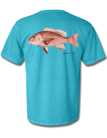 Red Snapper Short Sleeve Lagoon Blue Small