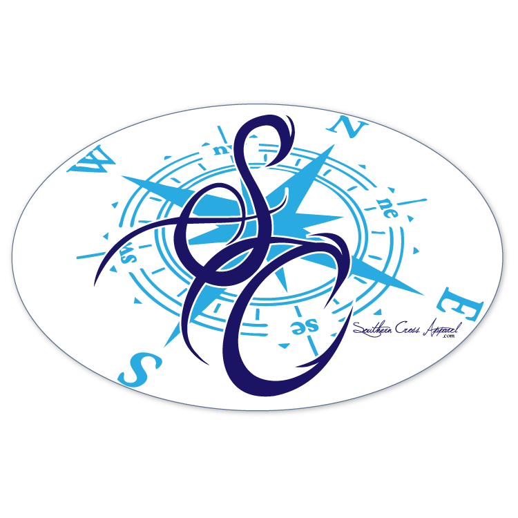 SC Blue Compass Decal, Accessories - Southern Cross Apparel