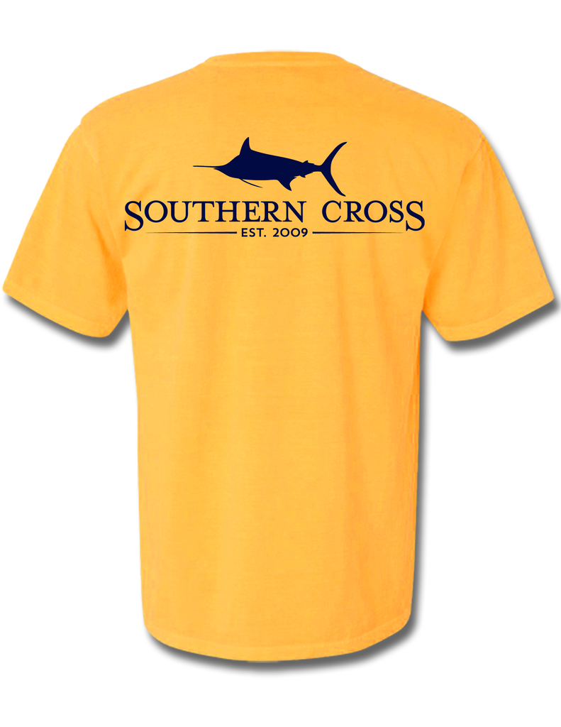 SCA Logo Citrus Short Sleeve Small, T-Shirts - Southern Cross Apparel