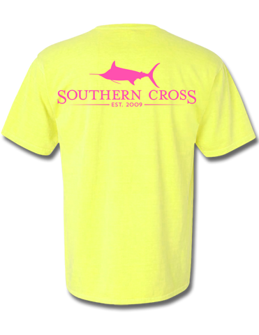 SCA Logo Short Sleeve Neon Yellow Small