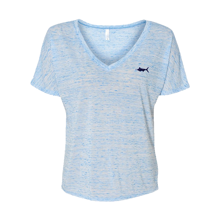 Seabreeze Slouchy V-Neck, Tops - Southern Cross Apparel