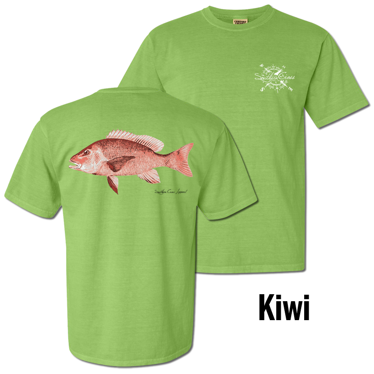 Red Snapper Short Sleeve Kiwi Small