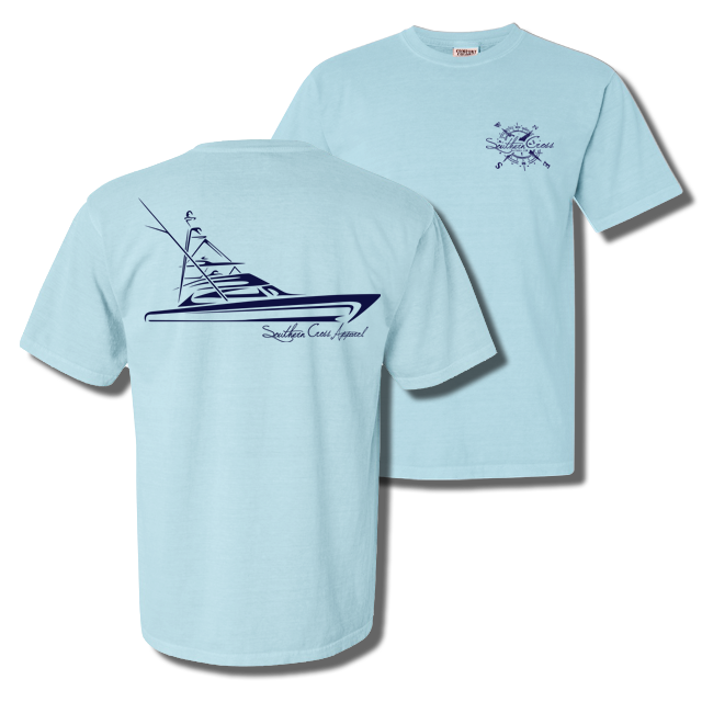 Tribal Sportfisher Short Sleeve Chambray Small, T-Shirts - Southern Cross Apparel