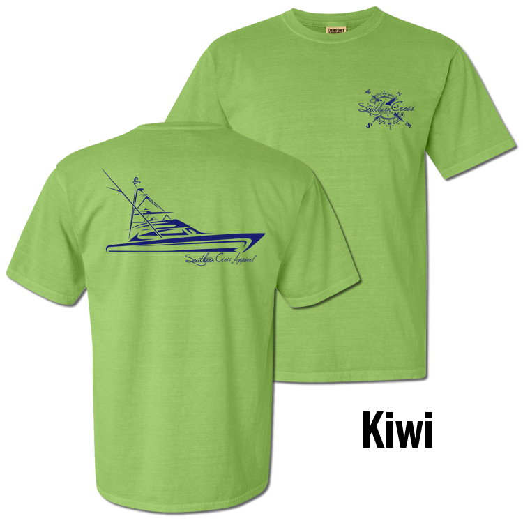 Tribal Sportfisher Short Sleeve Kiwi Small, T-Shirts - Southern Cross Apparel