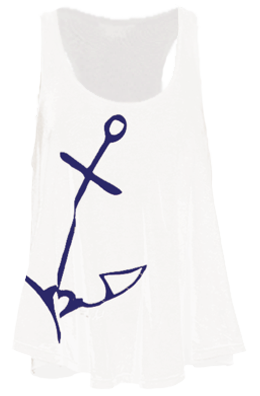 Admirally Yours Flowy Tank Top, Tank Top - Southern Cross Apparel