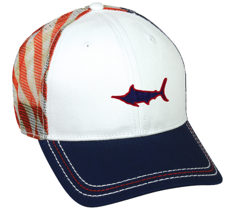 Marlin American Flag Mesh Back Hat, Hat - Southern Cross Apparel
