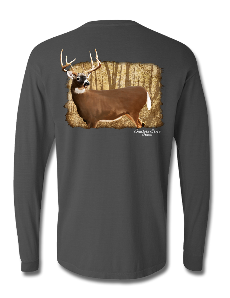 Whitetail Legend Long Sleeve, T-Shirts - Southern Cross Apparel