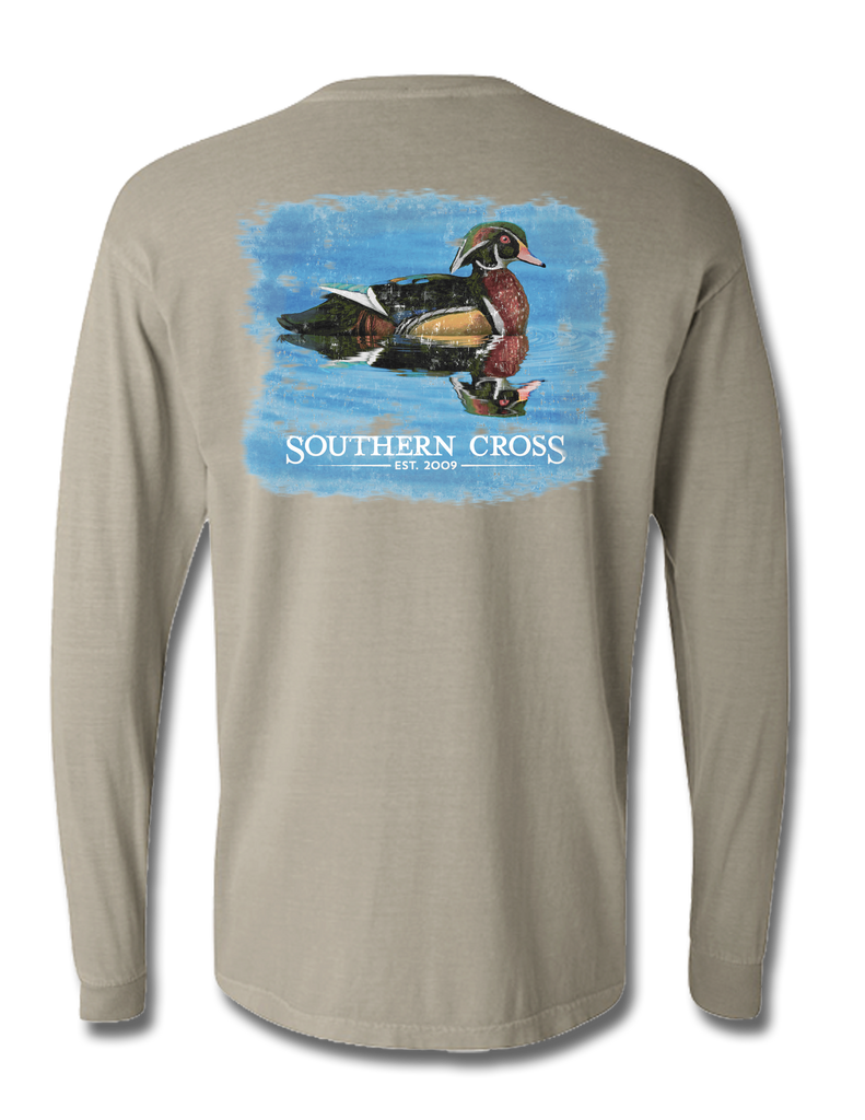 Wood Duck Long Sleeve, T-Shirts - Southern Cross Apparel