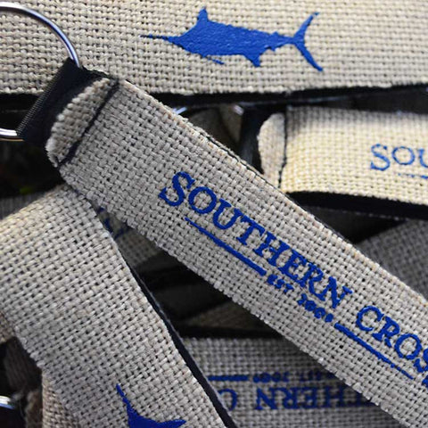 Southern Cross Burlap-Neoprene Keychain, Accessories - Southern Cross Apparel