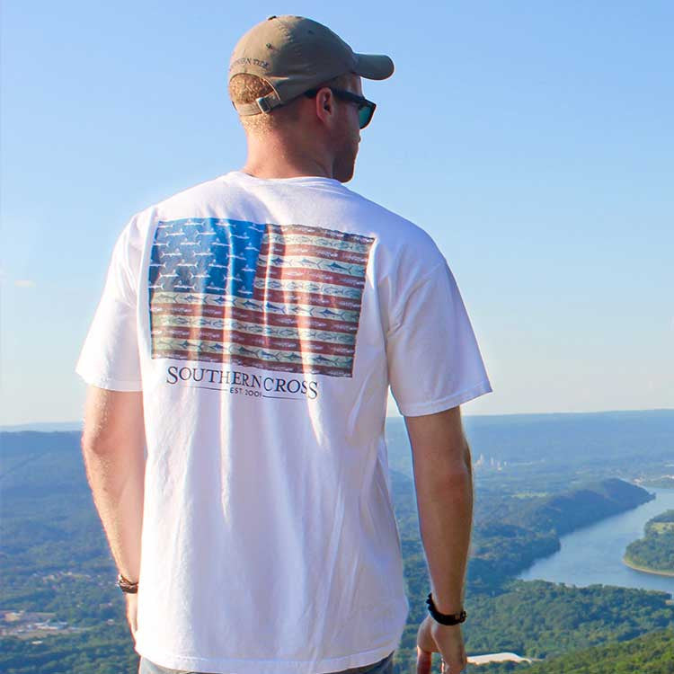 American Flag & Release Adult Short Sleeve, T-Shirts - Southern Cross Apparel