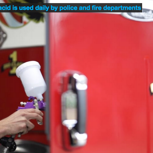 Hypochlorous acid is used daily by police and fire departments