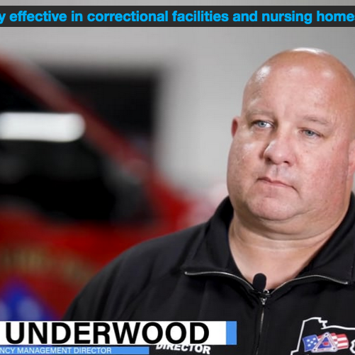 HOCL is highly effective in correctional facilities and nursing homes