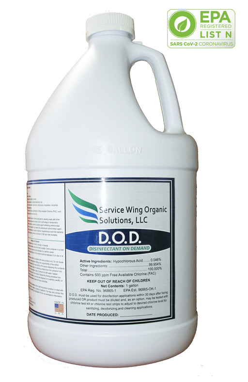 1 gallon EPA Approved Hypochlorous Acid, Disinfectant on Demand