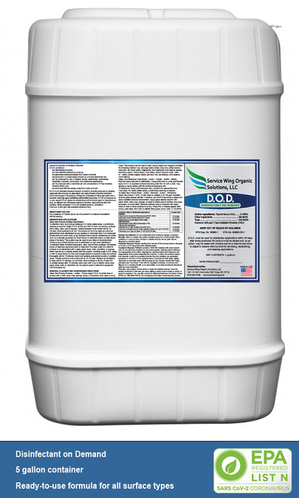 Disinfectant on Demand 5 Gallon Container