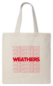 NEW - Weathers Canvas Tote Bag. Limited Supplies