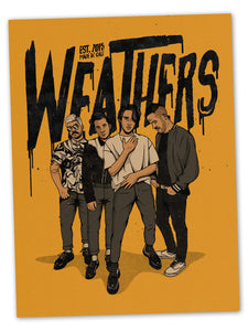 "NEW - Weathers ""Hand Drawn"" Poster"