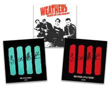 "Load image into Gallery viewer, Weathers Threesome Bundle - ""Kids in the Night"" CD and Both ""Our Little Secret"" Signed EPs"