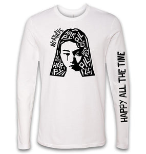 SPRING SALE 30% OFF - Happy Pills LS White Tee - While Supplies Last