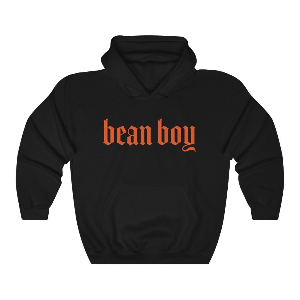 Bean Boy Orange Signature Hoodie in Black