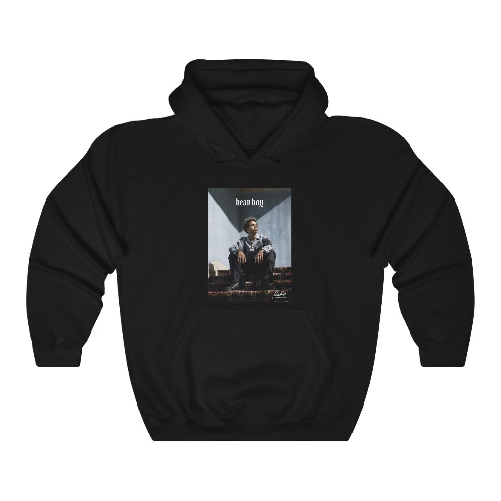 Bean Boy Graphic Hoodie in Black