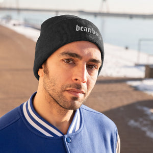 Bean Boy Signature Knit Beanie in Black