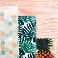 multipack beeswax wraps tropical