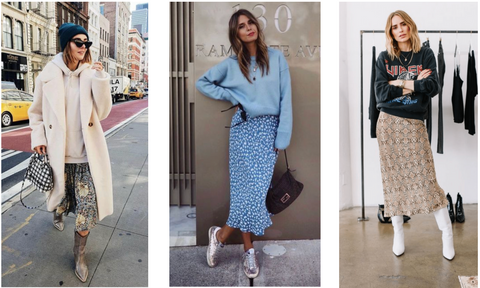 How to wear sweats and skirts