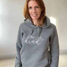 Load image into Gallery viewer, be kind slogan organic cotton hoodie