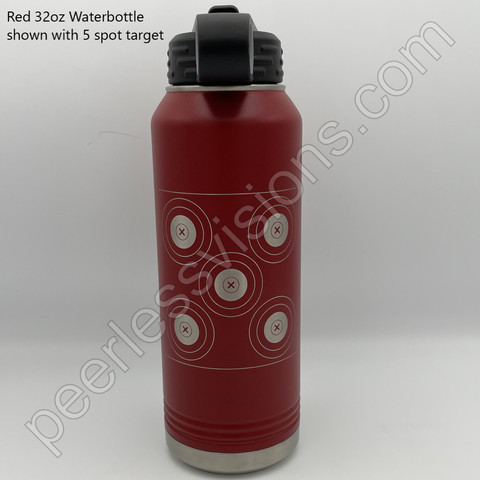 5 spot archery target engraved onto water bottle