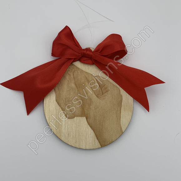 Personalize Photo Engraved Ornament