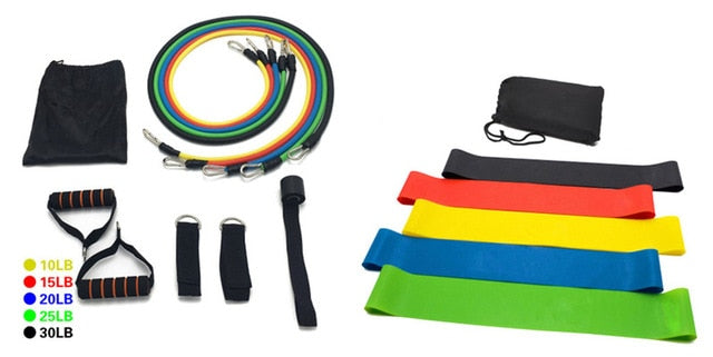17Pcs resistance band workout set