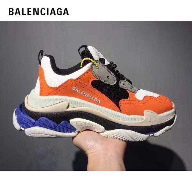 Original Sneakers Balenciaga Shoes Men Black Red Triple S Men Running Shoes Sneaker Fashion Platform Chunky