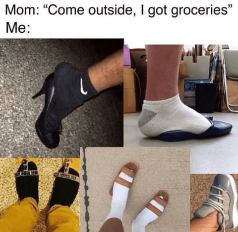 collage of people wearing socks with sandals