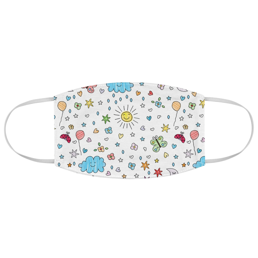 Kids Sunshine Pattern - Fabric Face Mask