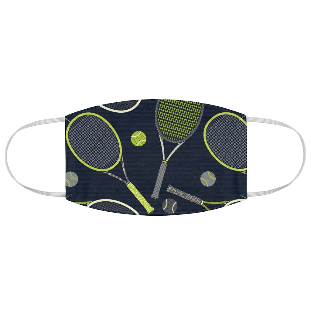 Tennis Pattern - Fabric Face Mask