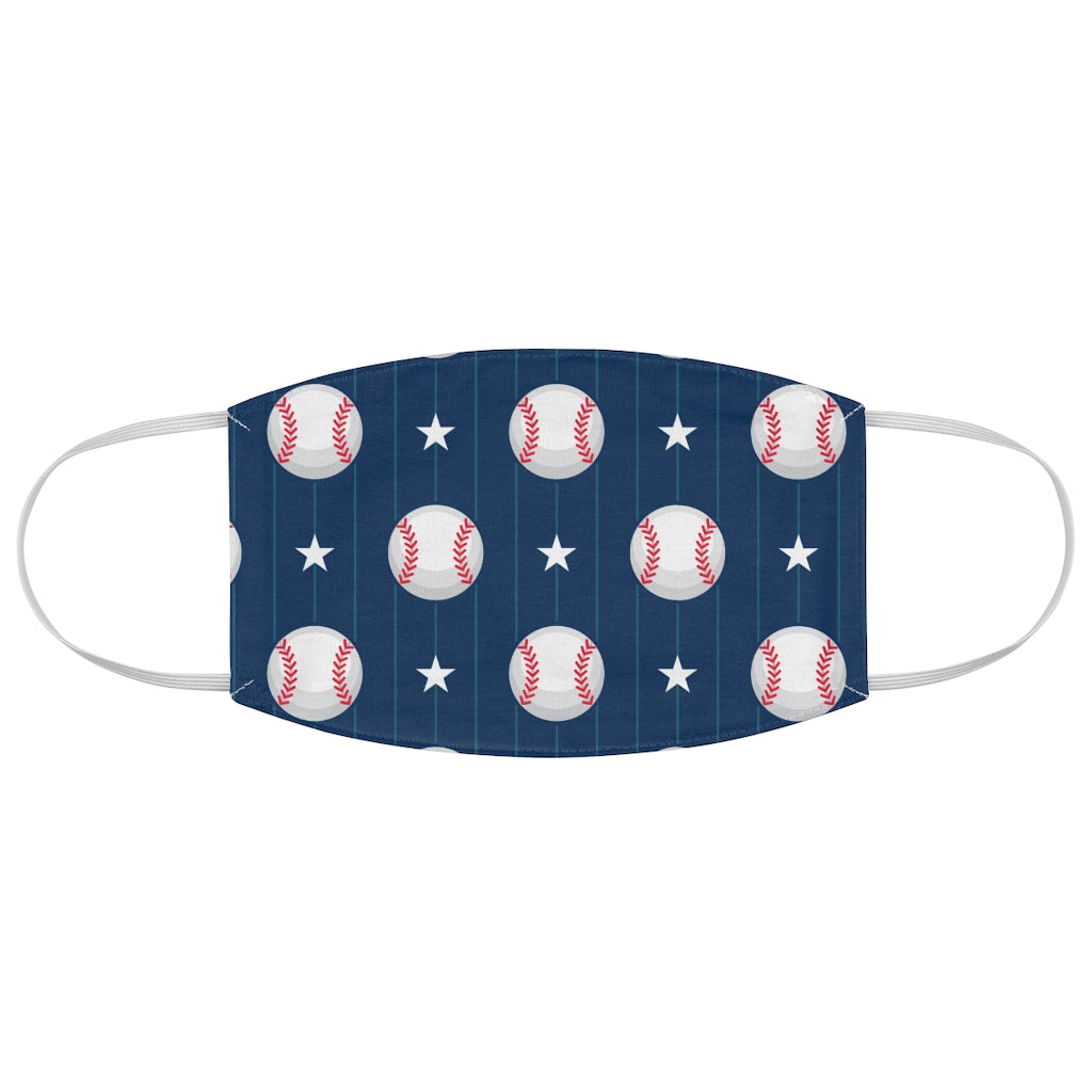 Baseball Pattern - Fabric Face Mask