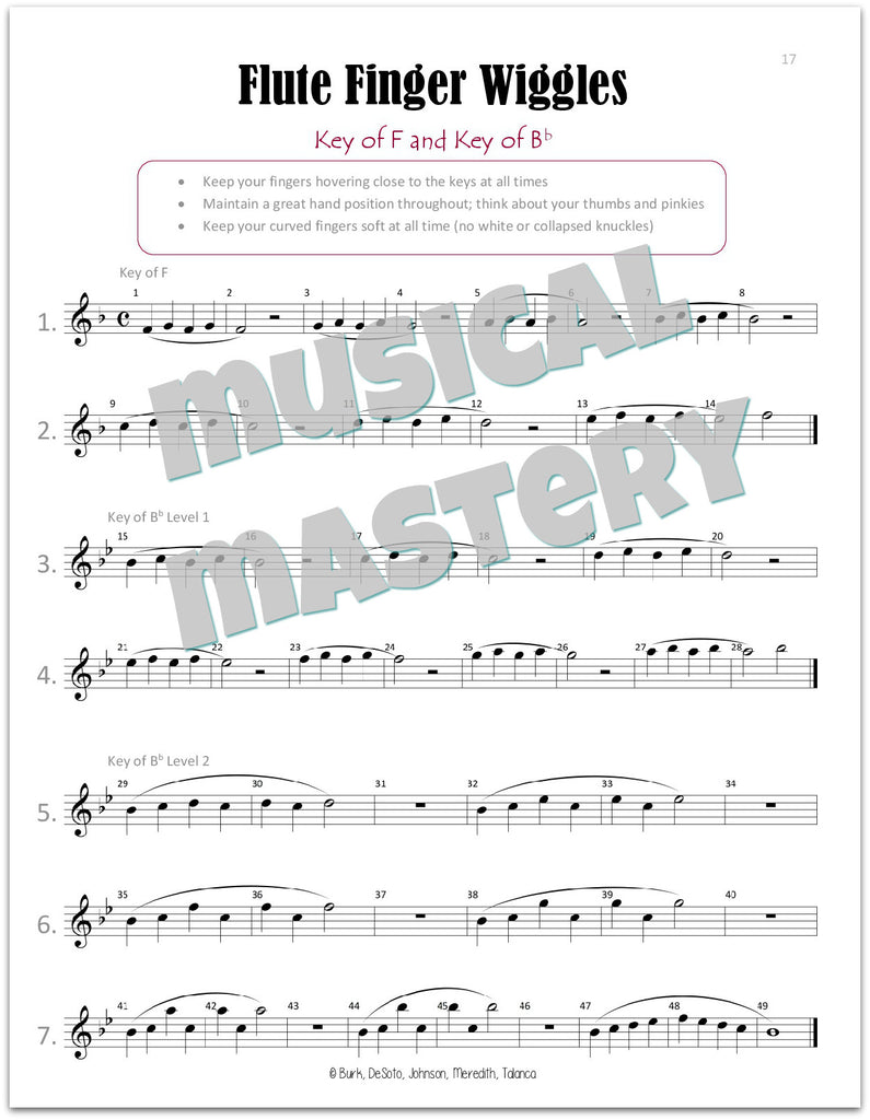 worksheet Theory Worksheets For Beginning Bands musical mastery for band flute book 1 mrns music 1