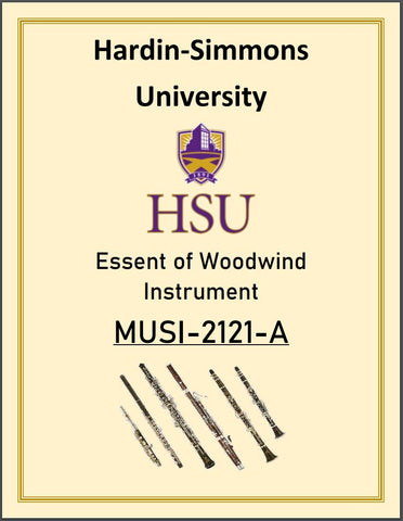 Hardin-Simmons University Essent of Woodwind Instrument Book MUSI-2121-A
