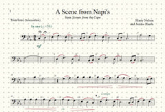 A Scene from Napi's Solo for Trombone and Piano