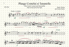 Plange Cantelui si Tarantella (The Count's Lament and Tarentella) Solo for Alto Saxophone and Piano