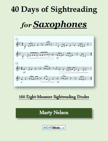 40 Days of Sightreading for Saxophones